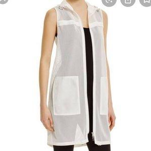 ELIE TAHARI Antique White Teddi Vest sz s